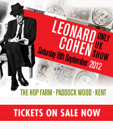 leonard cohen tickets hop farm uk